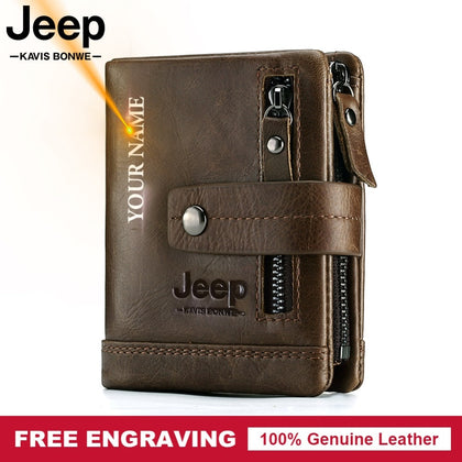 Genuine Leather Men Wallet Coin Purse Small Card Holder PORTFOLIO