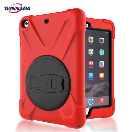 Case for iPad mini 1 2 3 hand-held Shock Proof full body cover Handle stand sleeve for ipad mini case capa funda