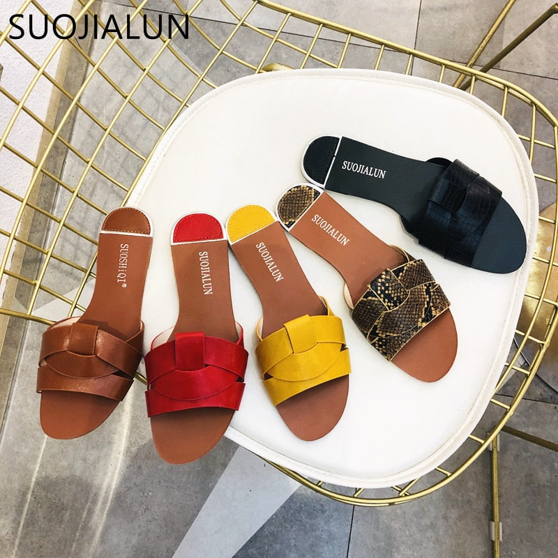 Mixed Colors Women Slipper Pllus Size 35-41 Women Summer Beach Slides Flip Flops