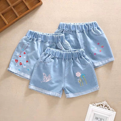 toddler shorts Girls denim in the summer big children shorts
