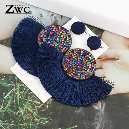 ZWC Fashion Bohemian Tassel Vintage Statement Drop Earrings