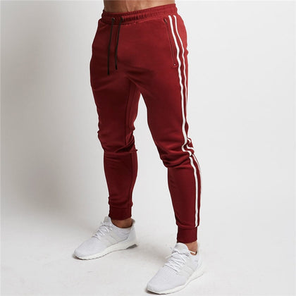 Men Striped Sport Sweatpants Running Pant