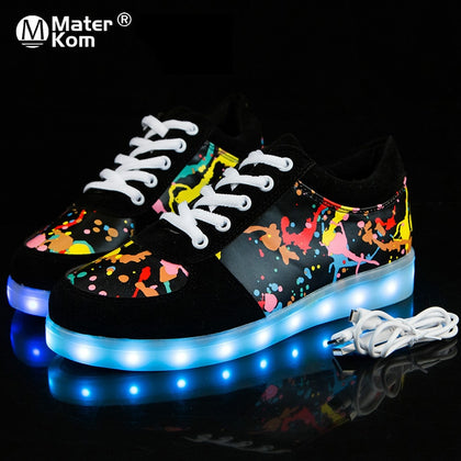 Size 27-41 Children Glowing Sneakers with Light Shoes Luminous Sneakers