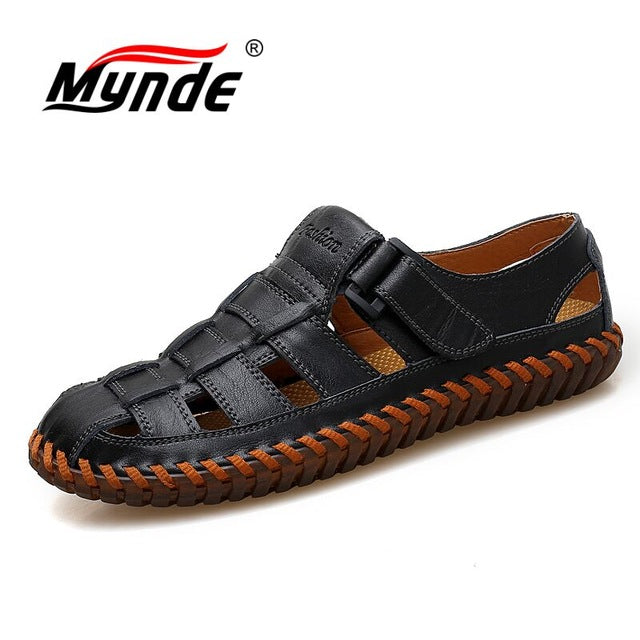 Men Cow Leather Sandals Outdoor Summer Handmade Men Sandals