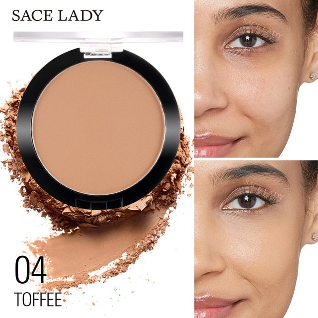 Matte Makeup Pressed Translucent Natural Foundation Compact