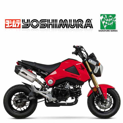 YM-12120EH320 - Yoshimura signature RS-9 slip-on (stainless/aluminium/carbon fibre) for 2014-2015 Honda Grom