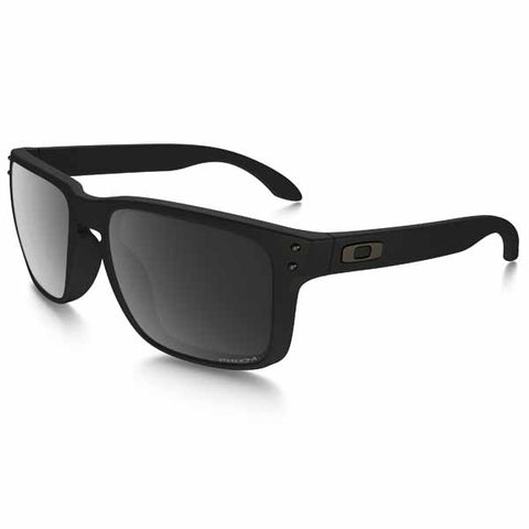 OA-OO9102-D655 - Oakley Holbrook polarised sunglasses in Matte Black frame with Prizm Black Polarised lens