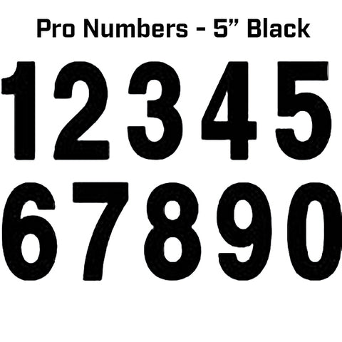 "Factory Effex Pro Numbers 5"" Black 125mm"