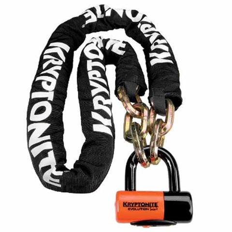 Kryptonite New York Chain and Evolution Series 4 Disc Lock is available in two chain lengths