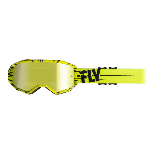 FLY GOGGLE ZONE HI-VIS YEL/BLK w/ GLD MIR/SMK LENS