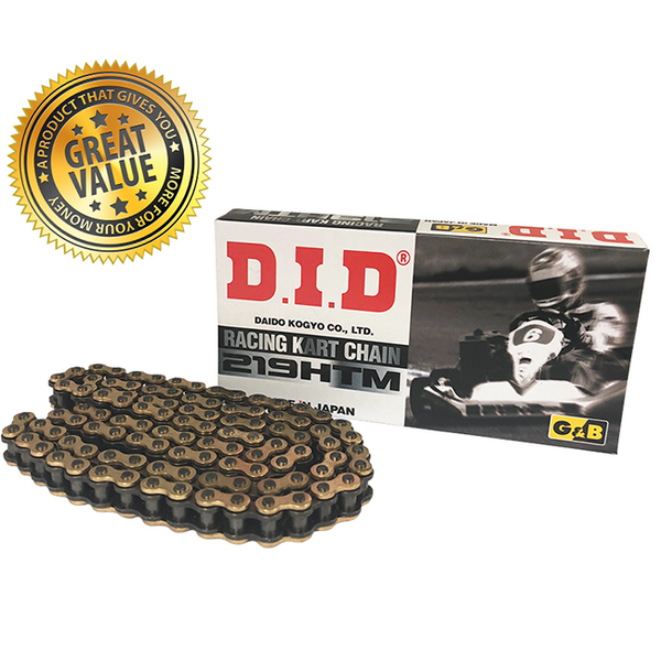 DID 219 HTM GOLD & BLACK KART CHAIN