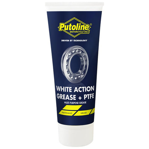 PUTOLINE ACTION GREASE - WHITE+PTFE 100GRM TUBE (74116) *12