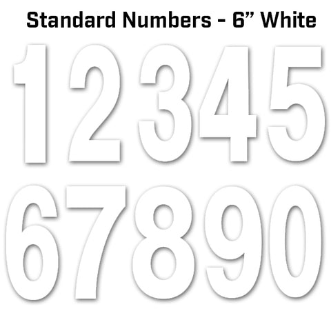 Factory Effex Standard Numbers White