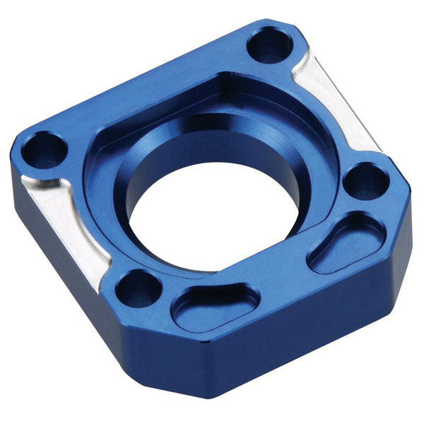 ACCEL AXLE ADJUSTER BLOCKS YAM R1/FZ1 BLU