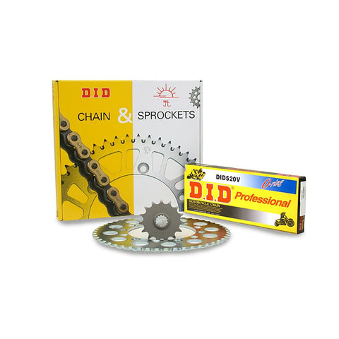 JT Sprocket Kit with D.I.D Chain YZF-Ring6 Con 530ZVMZJ Gold X-Ring SKY6301