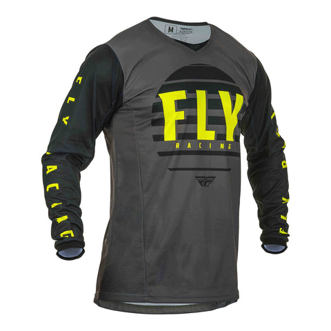 FLY 2020 KINETIC K220 JERSEY - BLACK / GREY / HI-VIS