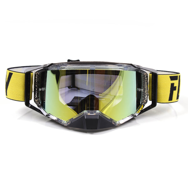 FLY GOGGLE ZONE PRO BLK/YLW w/ GLD MIR/SMK LENS