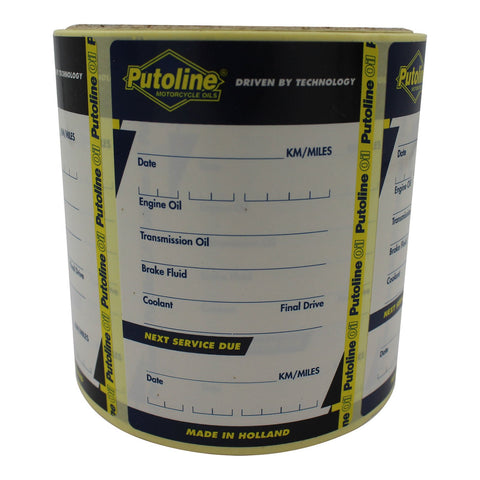 PUTOLINE SERVICE REMINDER LABEL /STICKER ROLL 100pcs (80277)