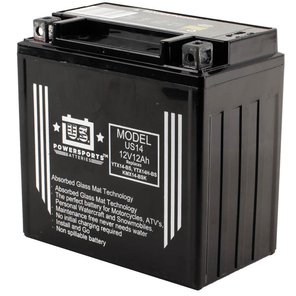 USPS AGM BATTERY US14-BS   YTX14-BS  *4