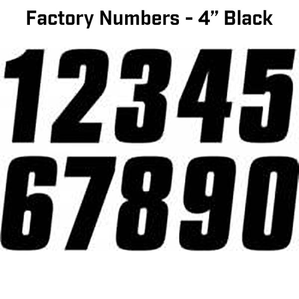 FACTORY NUMBER 4 INCH - 3 PACK BLACK 100mm