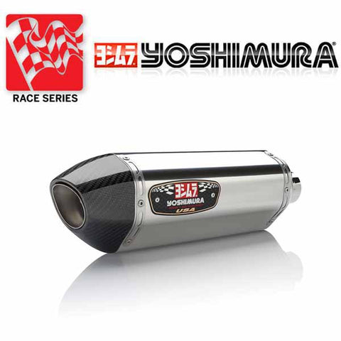 YM-1399000521 - Yoshimura Race Series R-77 stainless/stainless/carbon fibre full system for 2014-2018 Yamaha FZ-09/MT-09/XSR900