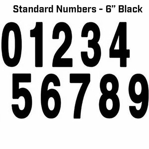 Factory Effex Standard Numbers Black