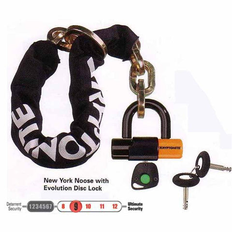 The Kryptonite New York Noose with Evolution Series 4 Disc Lock is available in two lengths - 75cm and 130cm