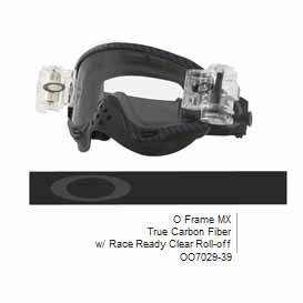 OA-OO7029-39 - Oakley O Frame MX goggles in True Carbon Fibre frame with Race Ready Clear Roll-Off system (clear lens)