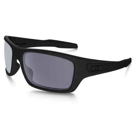 OA-OO9263-07 - Oakley polarised Turbine sunglasses in matte black frame with gray polarised lens