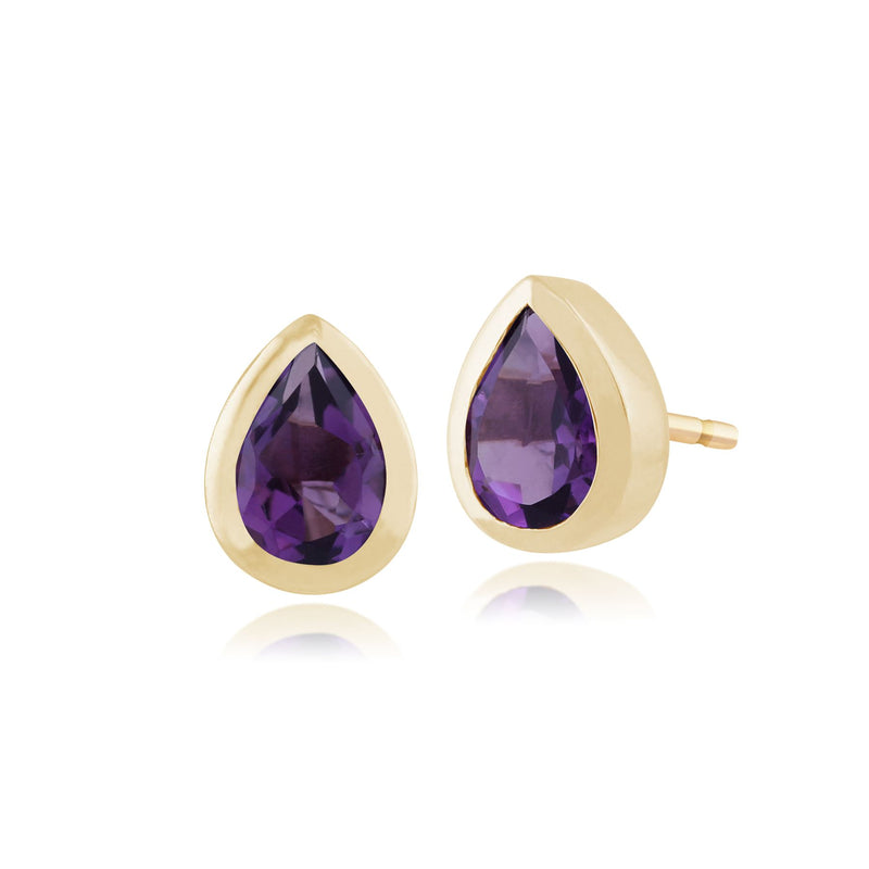 Boucles D'Oreilles Am�thystes, 9 CT or Jaune 0.72ct Am�thyste Boucles D'Oreilles