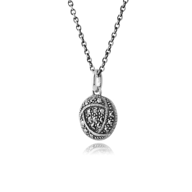 Collier Style Rennie Mackintosh Argent 925 Marcassite