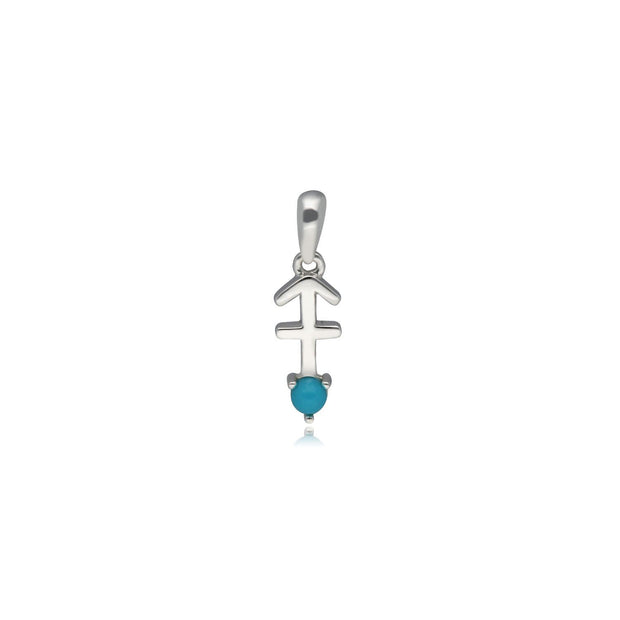 Charms Zodiaque Sagittaire Or Blanc 375 Turquoise