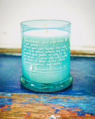 *NEW* TURQUOISE QUOTE TRAVLERS CANDLE *LIMITED EDITION*