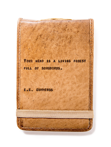 Mini Leather Quote Journal
