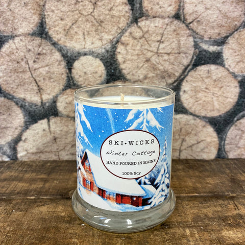 "New SKI WICKS ""Winter Cottage"" Candle"