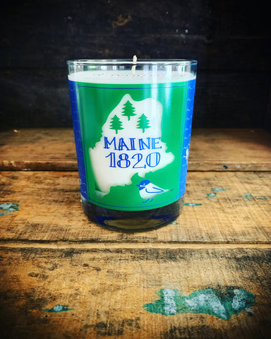 Limited Batch Maine 1820 Screen Printed Candle