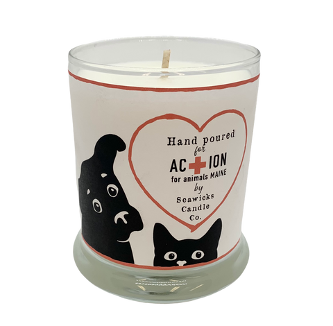 Limited Batch Action Animals of Maine Fundraiser Candle