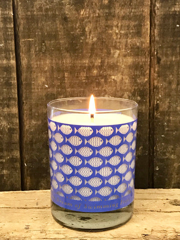 *LIMITED STOCK* Periwinkle SWIMMING FISH CANDLE