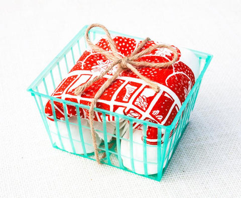 Tina Produce Strawberry Towel in Basket