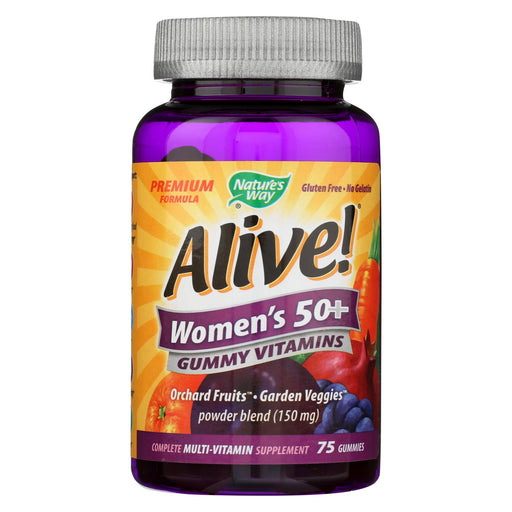 Nature's Way - Alive! Women's Multi-vitamin Gummies - 50 Plus - 75 Gummies