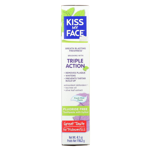 Kiss My Face Toothpaste - Triple Action - Fluoride Free - Paste - 4.5 Oz-buy Kiss My Face Toothpaste - Triple Action - Fluoride Free - Paste - 4.5 Oz-Kiss My Face Toothpaste - Triple Action - Fluoride Free - Paste - 4.5 Oz near me-Kiss My Face Toothpaste - Triple Action - Fluoride Free - Paste - 4.5 Oz walmart-best place to buy Kiss My Face Toothpaste - Triple Action - Fluoride Free - Paste - 4.5 Oz-grocery delivery-subscription boxes-grocery delivery near me-grocery delivery service-best subscription boxes