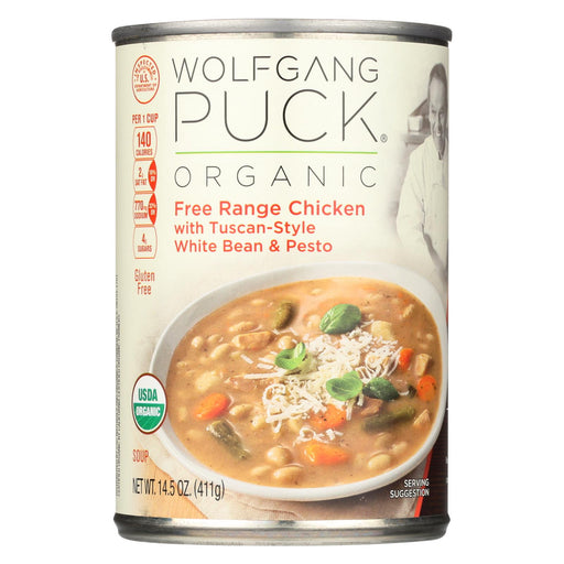 Wolfgang Puck Organic Soup - Wheat, Bean And Pesto - Case Of 12 - 14.5 Oz.