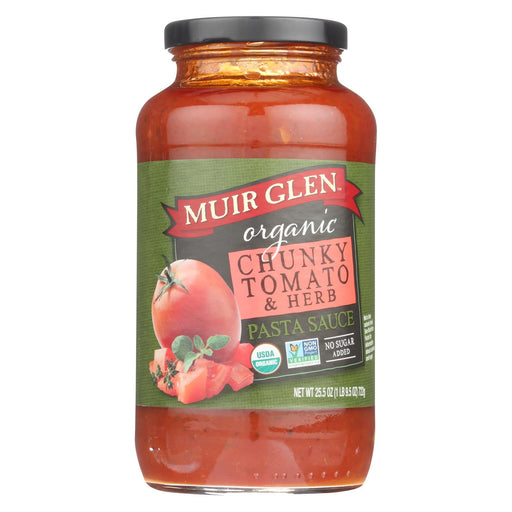 Muir Glen Pasta Sauce Chunky Tomato And Herb - Tomato - Case Of 12 - 25.5 Fl Oz.