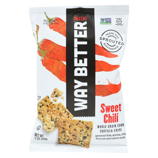 Way Better Snacks Tortilla Chips - Sweet Chili - Case Of 12 - 1 Oz.-buy Way Better Snacks Tortilla Chips - Sweet Chili - Case Of 12 - 1 Oz.-Way Better Snacks Tortilla Chips - Sweet Chili - Case Of 12 - 1 Oz. near me-Way Better Snacks Tortilla Chips - Sweet Chili - Case Of 12 - 1 Oz. walmart-best place to buy Way Better Snacks Tortilla Chips - Sweet Chili - Case Of 12 - 1 Oz.-grocery delivery-subscription boxes-grocery delivery near me-grocery delivery service-vegan grocery store online
