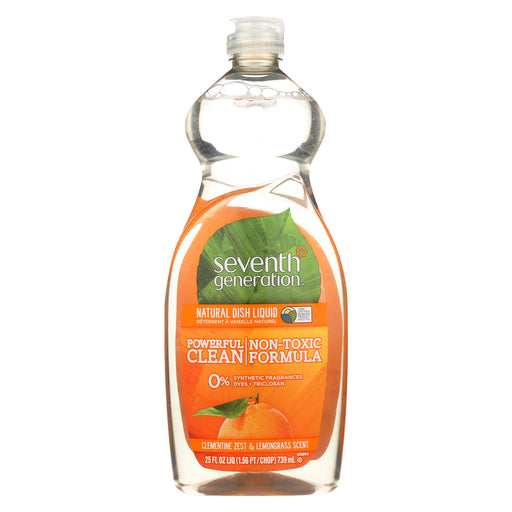 Seventh Generation Natural Dish Liquid - Lemongrass And Clementine Zest - Case Of 12 - 25 Fl Oz.