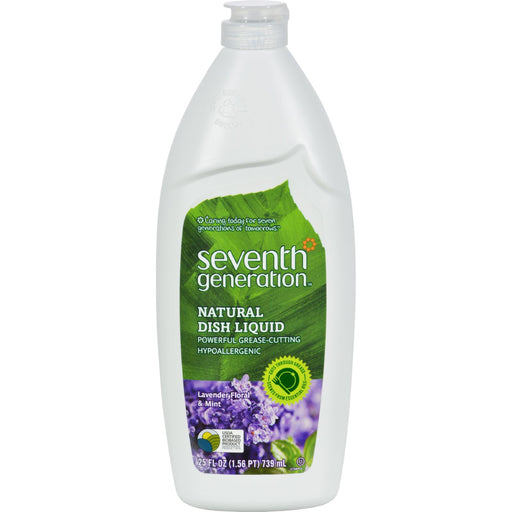 Seventh Generation Dish Liquid - Lavender Floral And Mint - 25 Oz - Case Of 12