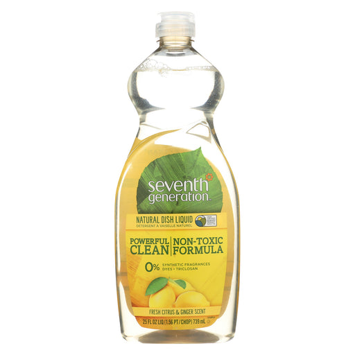Seventh Generation Dish Liquid - Fresh Citrus And Ginger - 25 Oz - Case Of 12