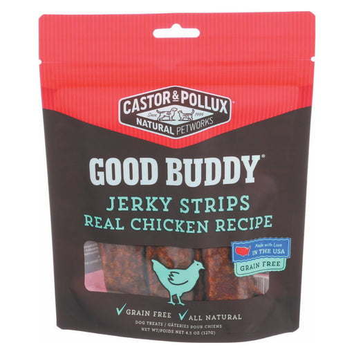 Castor And Pollux Good Buddy Jerky Strips Dog Treats - Real Chicken Recipe - Case Of 6 - 4.5 Oz.