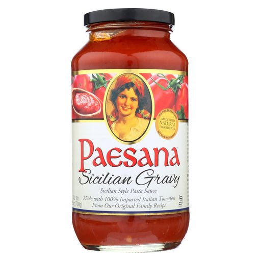 Paesana Sicilian Gravy Sauce - Tomato - Case Of 6 - 25 Fl Oz.-buy Paesana Sicilian Gravy Sauce - Tomato - Case Of 6 - 25 Fl Oz.-Paesana Sicilian Gravy Sauce - Tomato - Case Of 6 - 25 Fl Oz. near me-Paesana Sicilian Gravy Sauce - Tomato - Case Of 6 - 25 Fl Oz. walmart-best place to buy Paesana Sicilian Gravy Sauce - Tomato - Case Of 6 - 25 Fl Oz.-grocery delivery-subscription boxes-grocery delivery near me-grocery delivery service-vegan grocery store online