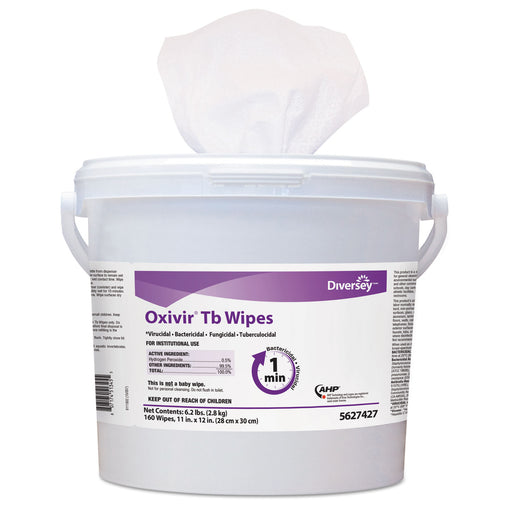 Oxivir Tb Disinfectant Wipes, 6 X 7, White, 60-canister, 12 Canisters-carton